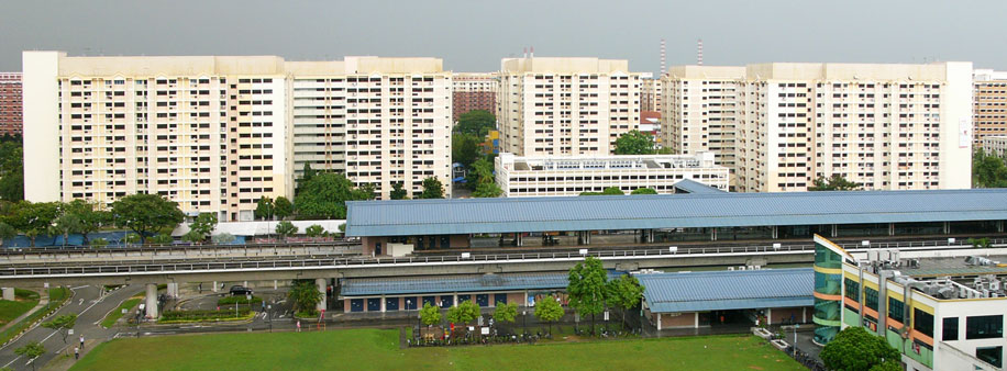 HDB and MRT station