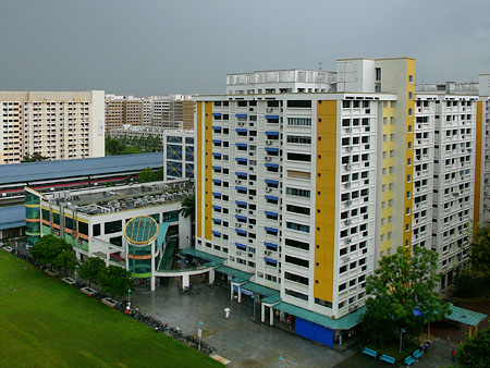 HDB above shopping centre