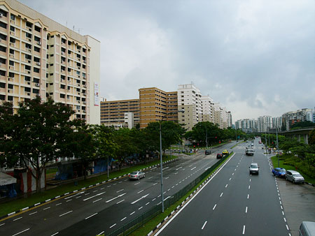 Main road near MRT