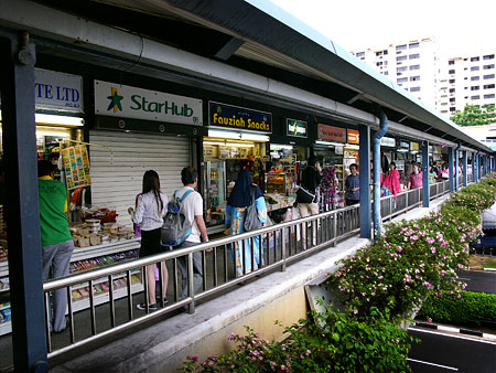 Shops on the overhead bridge
